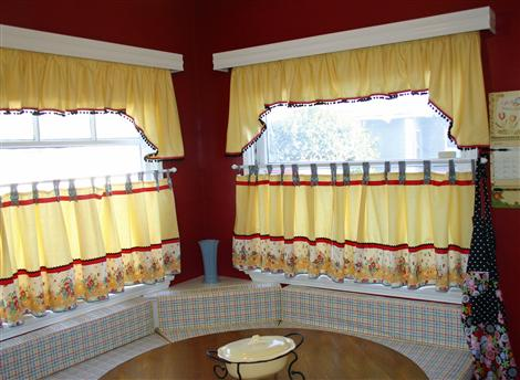 More is More » Kitchen Curtains and a Thank You